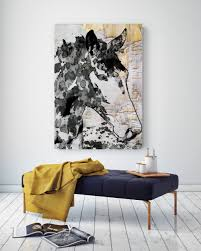 french horse extra large horse horse wall decor black white rustic horse large contemporary canvas art print up to 72 by irena orlov