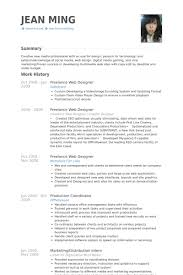 Freelance Web Designer Resume samples