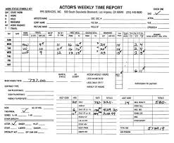 Timecard Ca Entertainment Payroll Sample Timecards Media Services