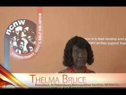 SPMS NCNW Women in History Month: Thelma Bruce, President of St. Pete  Metropolitan Section of NCNW - YouTube
