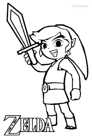 Wind Waker Link Coloring Pages Printable Coloring For Kids 2019