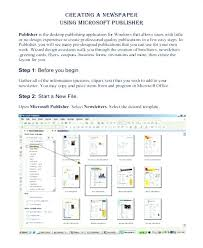 How To Create A Newspaper Template On Microsoft Word Awesome Newsletter Template Of Newspaper Office Free