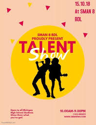 Copy Of Talent Show Flyer Template Talent Show Britain