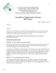 Landscaping Maintenance Agreement Template 0pe Info
