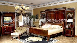 New Classic Bedroom Furniture 0010 High End Spanish New Design Bintangor Wood Classic Royal