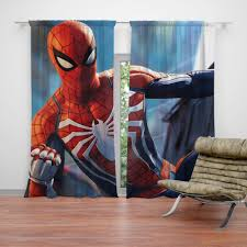 marvel comics spider man the avengers shield curtain