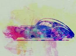 Bugatti vintage racing car poster fine art lithograph rene vincent re society. Bugatti Wall Art Prints Art Com