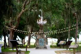 charming outdoor wedding at the fountain of youth in st augustine fl the celebration society