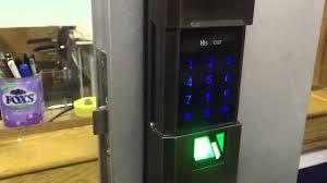 How to open door lock using finger print and password Yes-Original ...