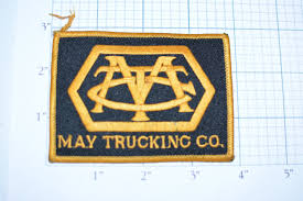May Trucking Company Rare Vintage Iron On Uniform Patch