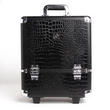 2016 multi purpose professional aluminum makeup trolley case with high grade black crocodile pattern aluminum cosmetic case in cosmetic bags cases from