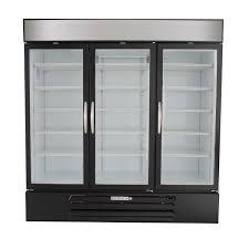 beverage air mmf72 5 b led black marketmax 3 glass door merchandising freezer with led lighting