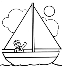 Small Picture A Boy Waving His Hand on Sailing Boat Coloring Pages Batch Coloring