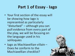 disturbed character essay prep 2 part 1 of essay iago