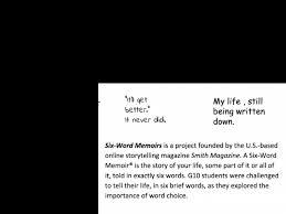 Describe Your Describe Your Life In 6 Words Kis International School