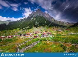 Eine Schöne Landschaft Von Den Elevit-Hochebenen Von Rize In Der  Schwarzmeerregion Der Türkei Stockbild - Bild von nave, nebel: 159425499