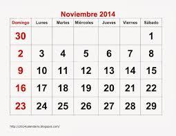 Calendarios Para Imprimir 2015 Calendario Noviembre 2014 Para Imprimir Calendario 2014