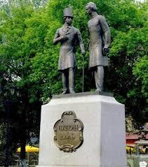 Именные памятники Город Оренбург Памятник Пушкину и Далю