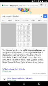 The nato phonetic alphabet is a way of using words to replace letters. Google S Preview Card For Nato Phonetic Alphabet Cuts Off Right At The Last Word Mildlyinfuriating