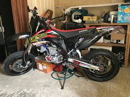 for sale honda crf 450 supermoto road legal big spec
