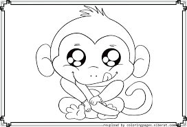 Monkey Coloring Pages For Preschoolers Free Printable Monkey