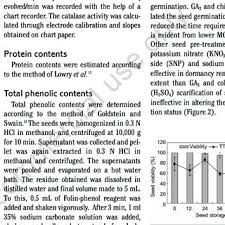 Storage Dependent Changes In Seed Viability Of H Niger