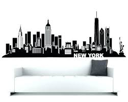 nyc skyline wall decal skyline wall decals new wall art new wall decal city skyline theme on new york skyline wall art stickers with nyc skyline wall decal skyline wall decals new wall art new wall