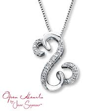 kay jewelers open heart necklace giaydabanhdep
