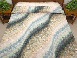 colcha em Bargello | bargello quilt patterns | Pinterest | Batik ... & Hand Painted Bargello Wave Quilt -- terrific Amish quilt from Lancaster PA.  Ably made by an Amish woman in her own home. Adamdwight.com