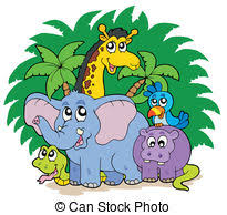 group of animals clipart. Exellent Animals Group Of African Animals  Vector Illustration Inside Of Animals Clipart F