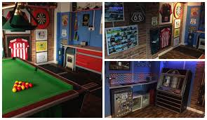 man cave. David Steventon, Widnes Sent In Pictures Of His Route 66 Themed Man Cave, Inspired Cave