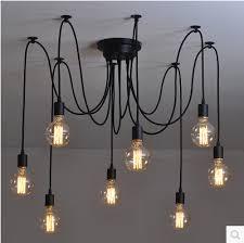New net Retro classic chandelier 8 E27 spider lamp pendant bulb