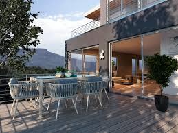 zoe modern outdoor dining set