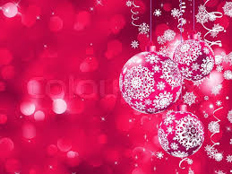 Pink Christmas Card Elegant Christmas Card With Balls Stock Vector Colourbox