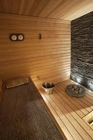 sauna ideas with stone wall nice use of indirect lighting but i think we