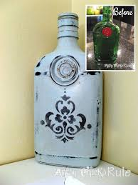 Small Picture Thrifty Bottle Makeovers Decoupage and Chalk Paint Paint