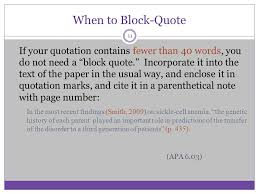 Apa Block Quote Stunning APA STYLE Some Basic Elements Ppt Video Online Download