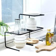 stacking shelves for kitchen cabinets kitchen cabinet iron can be stacked dish storage rack sink kitchen