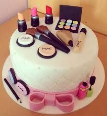mac white theme makeup cake