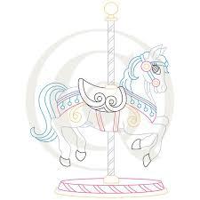 carousel horse svg dxf craft genesis
