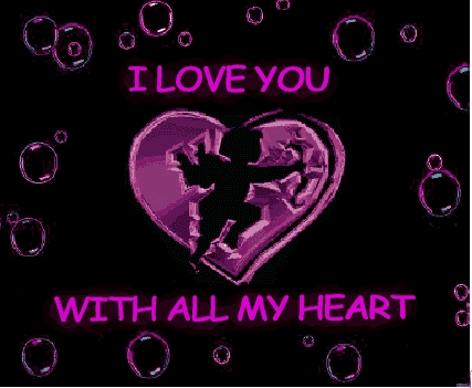 i love you heart animation