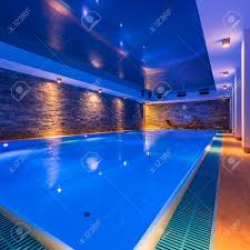 indoor swimming pool lighting. Luxury Indoor Swimming Pool In Modern Hotel Spa Stock Photo - 96764698 Lighting I