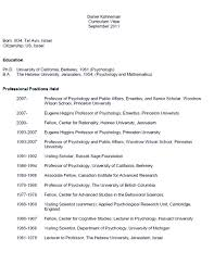 Gallery Of Professor Of Psychology And Public Affairs Resume Sample
