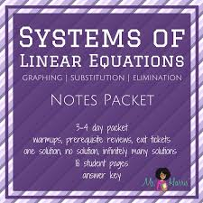 systems of linear equations notes packet