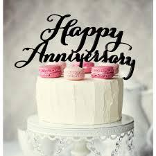 Black Happy Anniversary Cake Topper Build A Birthday