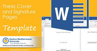 Word Thesis Template Thesis Cover And Signature Page Templates Are Now Available