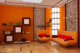 orange wall paint45 Colorful Living Rooms  InteriorCharm