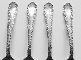 Wallace Sterling Patterns Inspiration Antique Dated 488 Wallace Sterling Silver Teaspoon Group 48 PCS