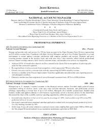 Sample Resume Of A Key Account Manager Save Resumes Key Account