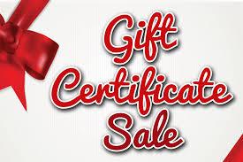 Holiday Gift Certificate Holiday Gift Certificate Sale Jacksonville Beach